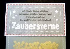 Nikolaus & Weihnachtsmann - Eine Tüte Zaubersterne, Nikolausgruß - ein Designerstück von KW16 bei DaWanda