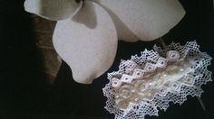 aplique comunion arrasen color blanco roto de Errederosa complementos por DaWanda.com