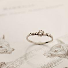 Image of platinum rose-cut diamond semi-eternity ring Cool Wedding Rings, Wedding Ring Designs, Bijoux Art Deco, Pretty Rings, Platinum Ring, Rose Cut Diamond, Antique Rings, Eternity Ring, Bridal Jewelry