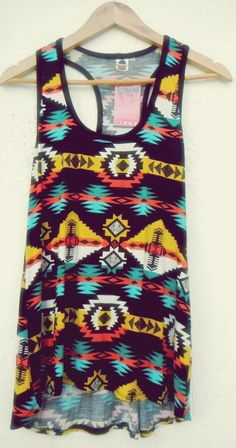 Tribal tank top. Follow me for more :D