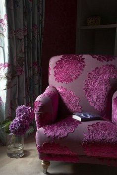 Beautiful chair. <3 - Oh, I love cut velvet! I have a turquoise and taupe bamboo chair and I fell in love with some gorgeous cut velvet chairs at the Rembrandt Hotel in London.