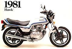 HONDA CB400T HAWK (1981) ad. Old Honda Motorcycles, Touring Motorcycles, Honda Bikes, Honda Cb, Old Street, Street Bikes, Classic Motors, Motorbikes, Retro Vintage