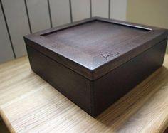 Watch Box, Watch Case, Men's Watch Box, Watch Box for Men, Wood Watch Box, Gift, Custom Watch Box for 6 watches