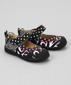 Take a look at this Black & Hot Pink Kaitlin Mary Jane by Madie Jane on #zulily today!