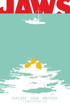 The Geeky Nerfherder: Movie Poster Art: Jaws (1975)