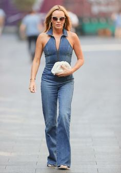 Amanda Holden in a Denim Jumpsuit | For more style inspiration visit 40plusstyle.com