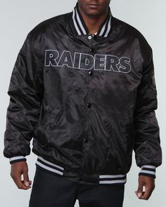 Shops Indiaviolet - Buy From The Best: Nba, Mlb, Nfl Gear Men Oakland Raiders Custom Satin Jacket,$79.99