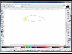 inkscape tutorial - using bezier curves - the basics - YouTube
