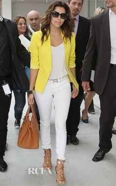 Eva Langoria arriving in Monte Carlo