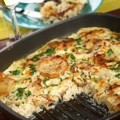 Italian Sausage and Cheesy Rice Casserole