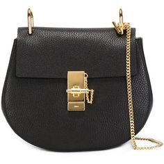 Chloe Drew Textured Leather Bag ($1,850) ❤ liked on Polyvore featuring bags, handbags, shoulder bags, crossbody, kirna zabete, crossbody handbags, chloe crossbody, black cross body handbags, black shoulder bag and chloe purses