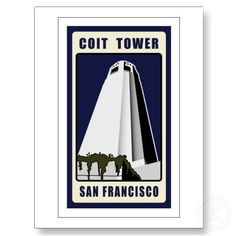 Coit Tower Postcards by skibbyb