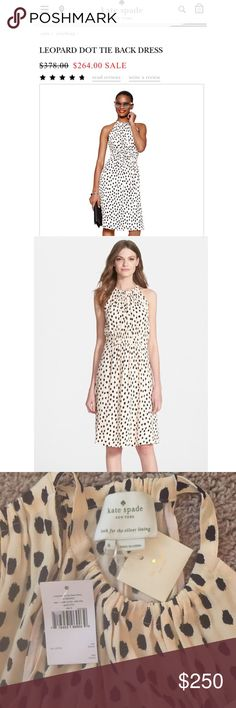 Kate Spade leopard dot dress NWT huge sale!!!! This is such a beautiful flattering dress on all shapes and sizes. Needing to sale. This is Best Sale . Brand new with all tags just not attached anymore but still have then and even extra buttons No trades! Only sell on posh. Don't want to sell this dress for more then half the cost I payed for :( need the money more so this is a killer deal and bars for me to part ways Kate Spade Dresses Midi
