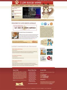 As co-founder of the award-winning animal activist organization and website, I Love Rescue Animals has played a huge part in my life. I am not only dedicated to rescuing and promoting our vision of a more animal-friendly world, but I am also dedicated to the brand itself – which is why I make sure it has the very best design package.