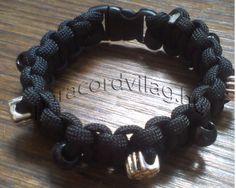 Paracord kobra karkötő/Fekete-Gyöngyökkel Paracord, Bracelets, Jewelry, Jewlery, Jewerly, Schmuck, Jewels, Jewelery, Bracelet