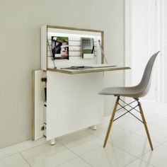 compact Workstation - The 'Flatmate Secretary' desk is a compact workstation that measures less than five inches in depth. With more and more urban consumers...