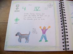Waldorf ~ 1st grade ~ Math ~ Quality of Numbers: Four ~ main lesson book