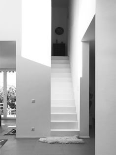 New stair to upper floor. Stairs, Flooring, Home Decor, Architects, Stairway, Decoration Home, Room Decor, Staircases, Wood Flooring
