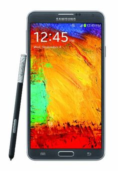 Samsung Galaxy Note 3, Black (Sprint) Display: 5.7-inches. Camera: 13-MP. Processor Speed:  2.3 GHz. OS: Android 4.3 (Jelly Bean).