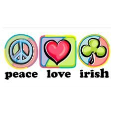 Peace Love Irish Poster
