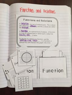Functions and Relations Interactive Notebook Page