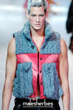 maison-malesherbes:  [ Fashion ]John Galliano Homme 2008 Fall Please follow us on our FACKBOOK page, if you interested and also to know more about us and crochet, knitting, arts, fashion, movies and more… https://www.facebook.com/maisonmalesherbes/