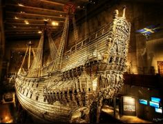The Vasa ship Stockholm is the only preserved seventeenth-century ship in the world, and a unique art treasure. More than 95 percent of the ship is original, and it is decorated with hundreds of carved sculptures.