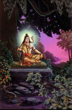God Shiva as adiyogi in creative art painting Mahakal Shiva, Shiva Art, Hindu Art, Krishna Krishna, Shri Hanuman, Baby Krishna, Lord Krishna, Lord Ganesha Paintings, Lord Shiva Painting