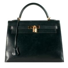 Forever Fashion Items  Hermes Black Box Kelly Sellier