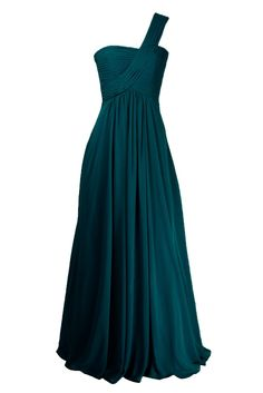 Sunvary 2015 Woman One Shoulder Chiffon Party Bridesmaid Dress Long Prom Evening Gowns Mother of the Bride Dresses- US Size 18W- Dark Teal