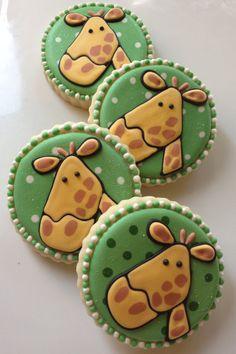 1 Dozen Giraffe Cookies via Etsy