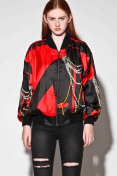 Vintage 90s Silk CC Logo Track Jacket http://thriftedandmodern.com/vintage-90s-silk-cc-logo-track-jacket