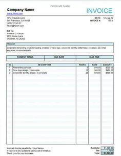 Free Proforma Invoice Template Word Colorful Invoice Design  Free Invoice Template Online  Pinterest  Itinerary Receipt Pdf with American Deposit Receipt Excel  Free Freelance Invoice Templates In Word And Excel Upon Receipt Of Invoice Excel