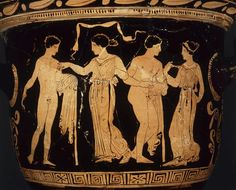 """""""Apulian red-figure bell-krater, the purification of Orestes by Apollo in Delphi, and the shade of Clytemnestra trying to waken the Erinyes (Furies) Greek, Apulian, centuries BC """" Greece Design, Myths & Monsters, Classical Greece, Louvre, Les Themes, Museum, Goddess Of Love, Herve, Paris"""
