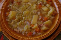 Recette de Soupe au chou vert et au lard : la recette facile