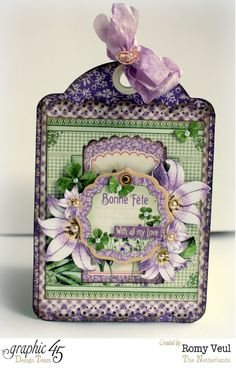 Time to Flourish Spring tag by the amazing Romy! #graphic45