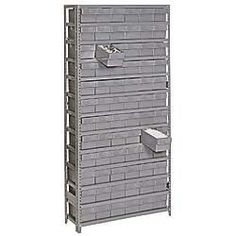 EDSAL Shelving with Heavy-Duty Plastic Shelf Boxes - Gray by Edsal. $452.00. Units can be used individually or arranged in rows.