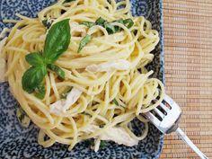 Spaghetti al Limone with Poached Chicken