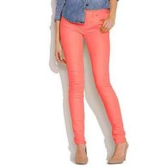Melon colored skinny jeans...trying to find these!!