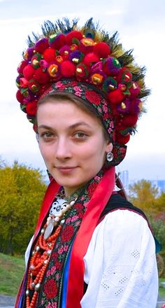Ukraine, from Iryna Love culture? Consider hosting a foreign exchange student with CCI Greenheart from a country like this! Learn more here! Folk Fashion, Ethnic Fashion, We Are The World, People Around The World, Traditional Fashion, Traditional Dresses, Headdress, Headpiece, Folklore