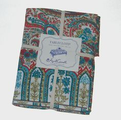 April Cornell Paisley Floral 100% Cotton Tablecloth NEW NWT #AprilCornell