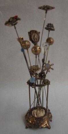 Vintage Victorian Hat Pins & Holder