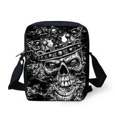 40e071129306 Cool Men s Skull Small Crossbody Bags. WeAreTheBikerStore. Cheap bag ...
