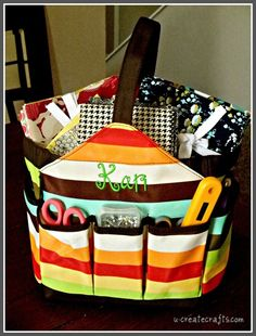 craft tote for all my nursing supplies pens scissors and stuff! Saves Endless trips to Supply room, Great Idea!