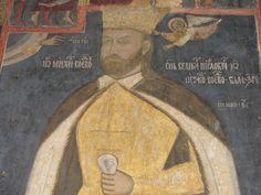 Mihai Viteazul/Michael the Brave - Caluiu Monastery, naos Mural Painting, Romania, Brave, Portraits, Costumes, World History, Portrait, Events, Dress Up Clothes