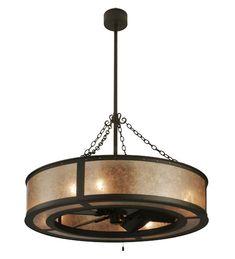 Fan and chandelier combo