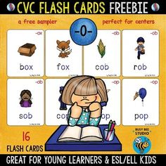 """This is a set of 16 CVC Short """"o"""" Flashcards. Each card presents a word (+ word family) and a colorful picture representing that word.  -OX word family: box, fox -OB  word family: cob, rob, sob -OP word family: cop, hop, pop, mop, top -OT word family: hot, pot, cot -OG word family: fog, hog, jog,log  Flashcards can be used in many different ways(games, revision, etc.) Perfect for kindergarten, 1st graders and ESL students."""