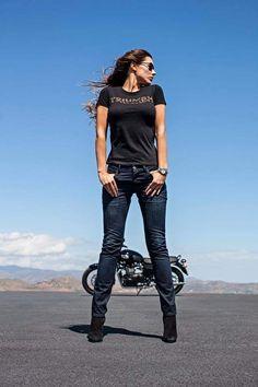 Habermann & Sons Classic Motorcycles and Bike Style, Motorcycle Style, Motorcycle Girls, Lady Biker, Biker Girl, Biker Photoshoot, Chicks On Bikes, Stunt Bike, Cafe Racer Girl