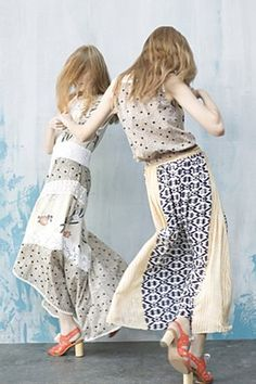 """Anthropology """"Field Biology"""" printed Maxi Dress and model movement"""