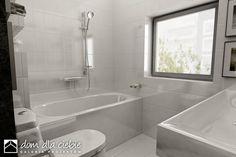 Projekt domu Wróbel - wariant A - Dom Dla Ciebie Alcove, House Plans, Bathtub, How To Plan, Bathroom, Home Plans, Blueprints For Homes, Standing Bath, Bath Room
